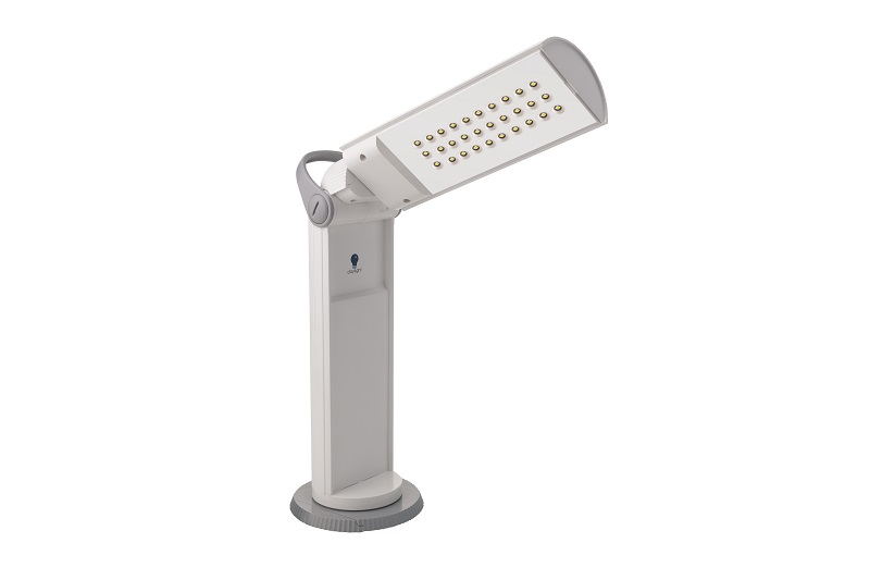 Daylight Twist LED draagbare lamp wit/grijs